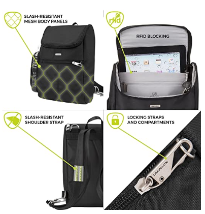 Anti theft Small Convertible Daypack review.