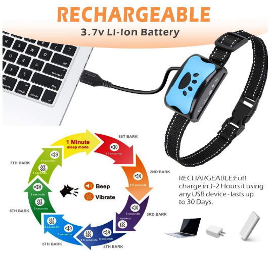 Bark Collar Rechargeable Anti Barking Device for Small Medium and Large Dog,Ruolan Training Dog Barking Collar Stop Barking Deterrent Device Review
