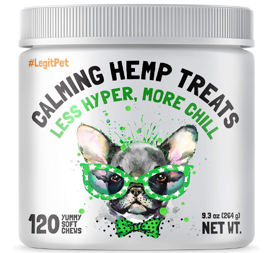 Calming Hemp Treats For Dogs - Made in USA with Organic Hemp - Dog Anxiety Relief Review.