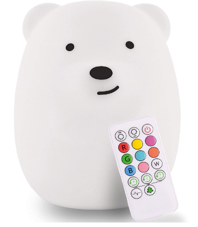 LED Nursery Night Lights for Kids Review: Animal Silicone Baby Night Light with Touch Sensor