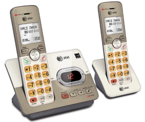 At&T hearing impaired cordless phone for hard of hearing.